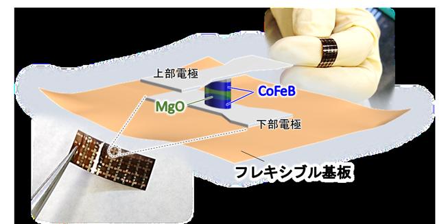 IoT産業にきわめて重要な成果 柔らかいスピン素子が実用レベルにあることを実証 ~ウェアラブルデバイスへの磁気メモリ混載など 新たな産業応用展開に期待~