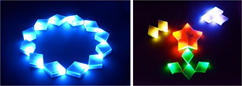 自然なゆらぎ演出LED技術 社会実装化へ!-シンクロ型アート照明のコンセプトモデル開発へ寄与-