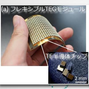 大面積・高効率・機械的信頼性を実現したフレキシブル熱電変換モジュールを開発