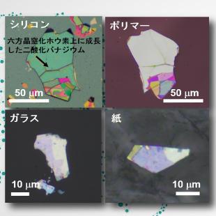 様々な材料に貼り付け可能な層状物質上で機能性酸化物の成長に成功! -スマートウィンドウなどへの応用に期待-