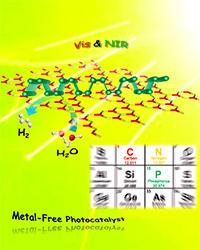世界初!可視光・近赤外光照射により、 水から水素を高効率で生成する完全金属フリー光触媒を開発