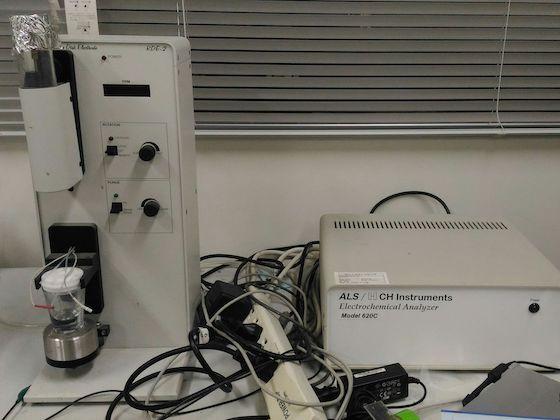 電気化学アナライザー(CV):BAS /ALS620C、回転ディスク電極装置/RDE-2
